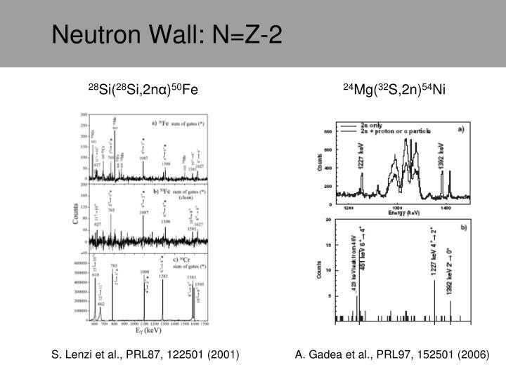 Neutron Wall: N=Z-2