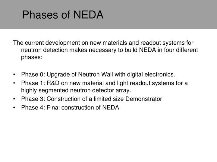 Phases of NEDA