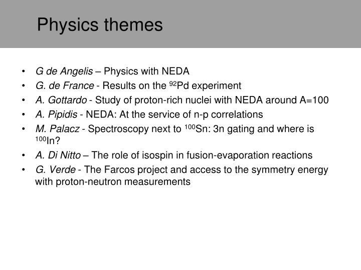 Physics themes