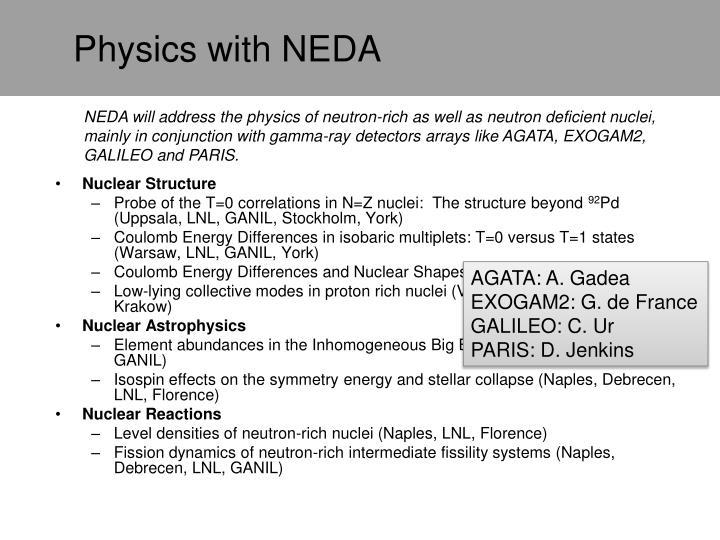 Physics with NEDA