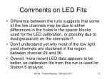 comments on led fits