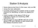 station 5 analysis