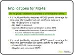 implications for ms4s1
