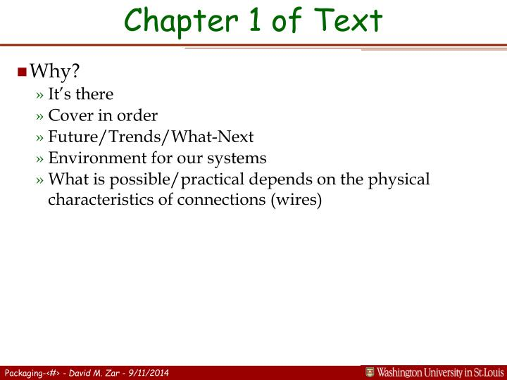 Chapter 1 of text