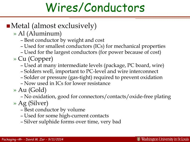 Wires/Conductors