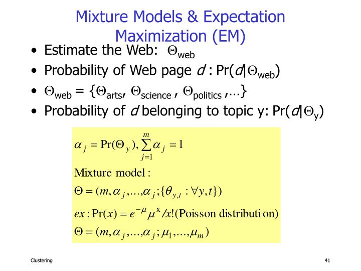 Mixture Models & Expectation Maximization (EM)