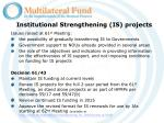 institutional strengthening is projects