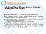 multilateral fund climate impact indicator mcii decision 59 45