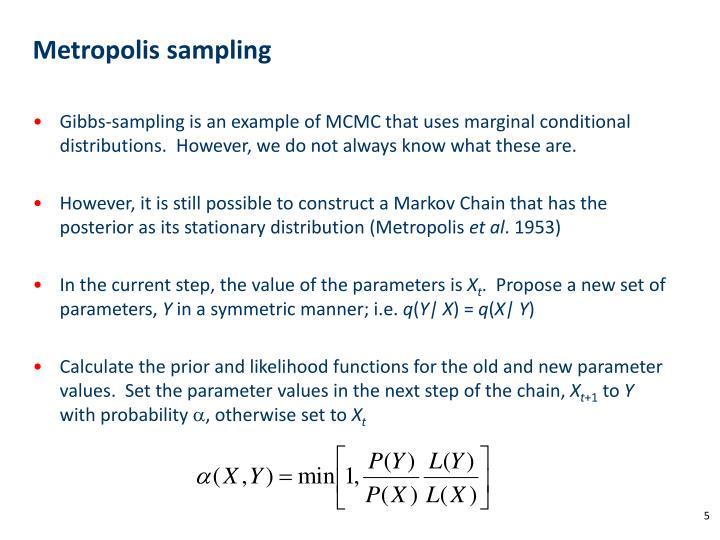 Metropolis sampling