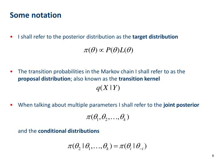 Some notation