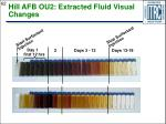 hill afb ou2 extracted fluid visual changes
