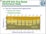 hill afb ou2 flux based performance study