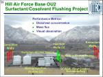 hill air force base ou2 surfactant cosolvent flushing project