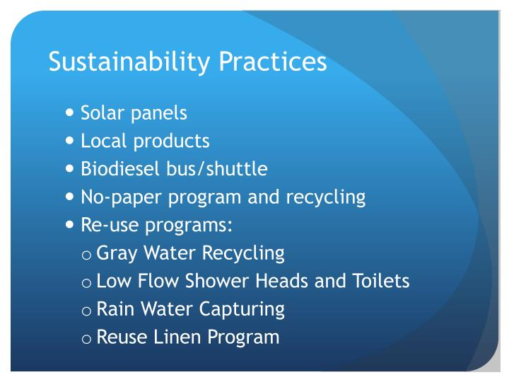 Sustainability Practices
