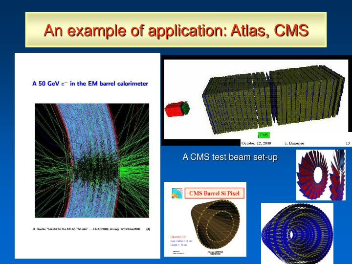 An example of application: Atlas, CMS