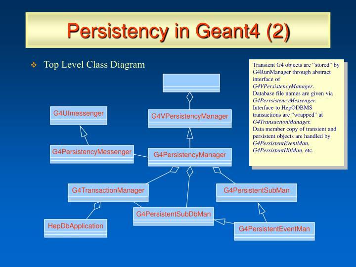 G4PersistencyMessenger