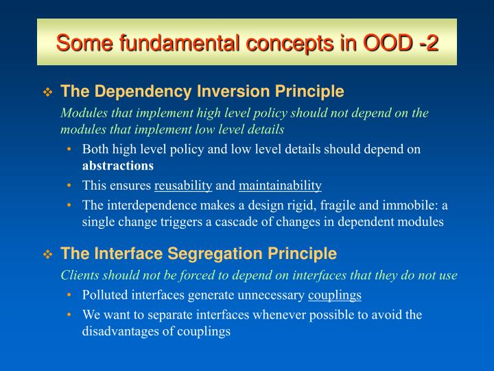 Some fundamental concepts in OOD -2