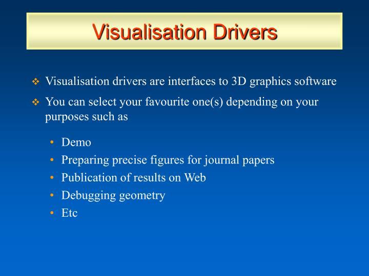 Visualisation Drivers