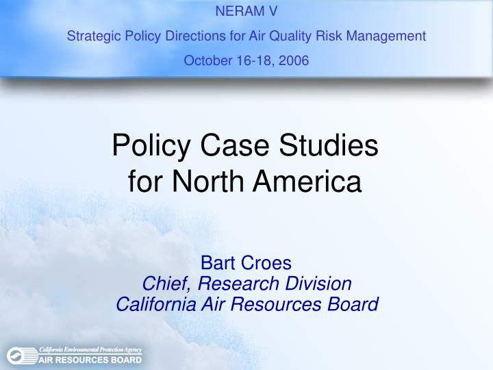 Policy case studies for north america