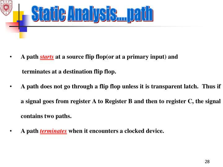 Static Analysis....path