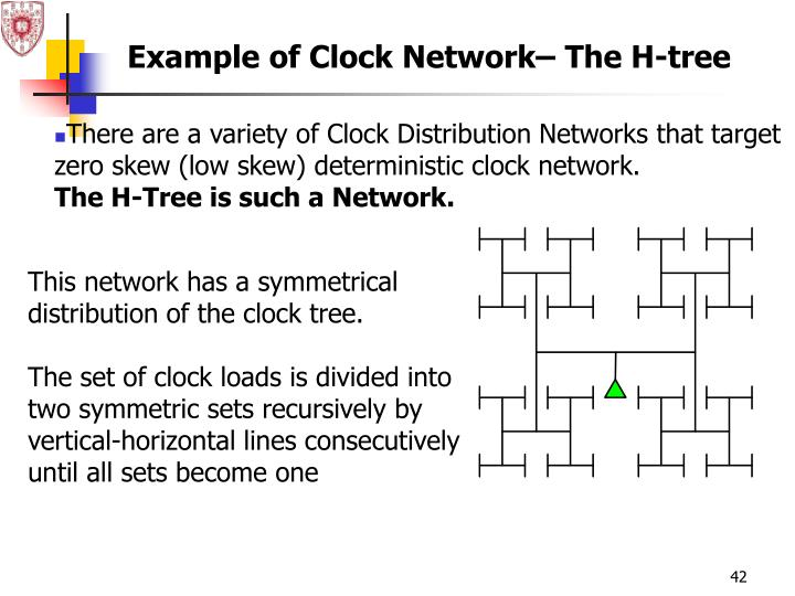 Example of Clock Network– The H-tree