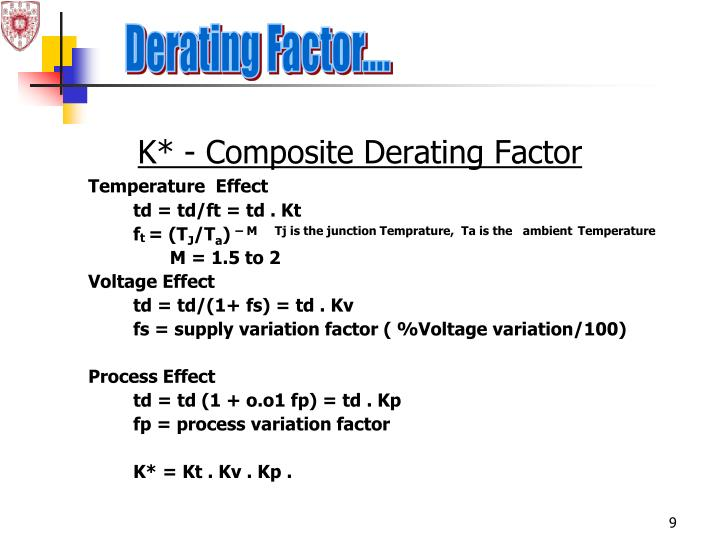 Derating Factor....