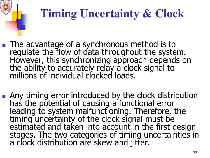 Timing Uncertainty & Clock