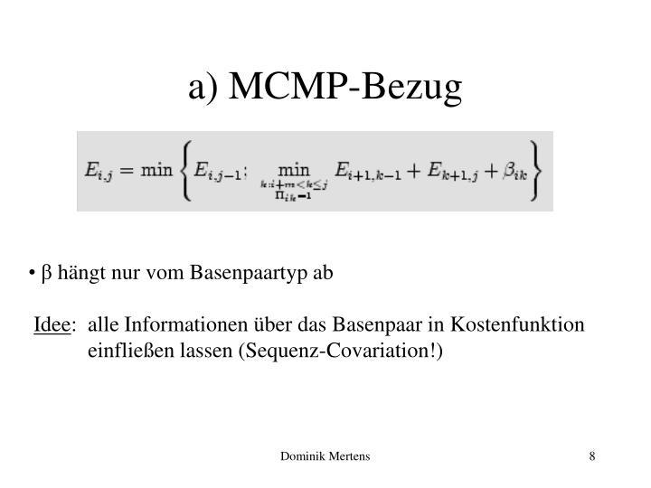 a) MCMP-Bezug