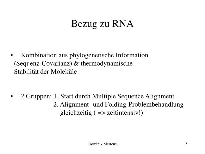 Bezug zu RNA