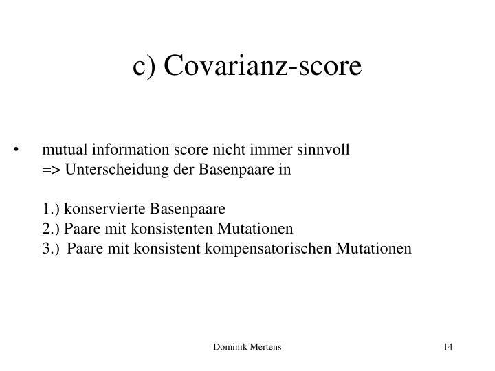 c) Covarianz-score