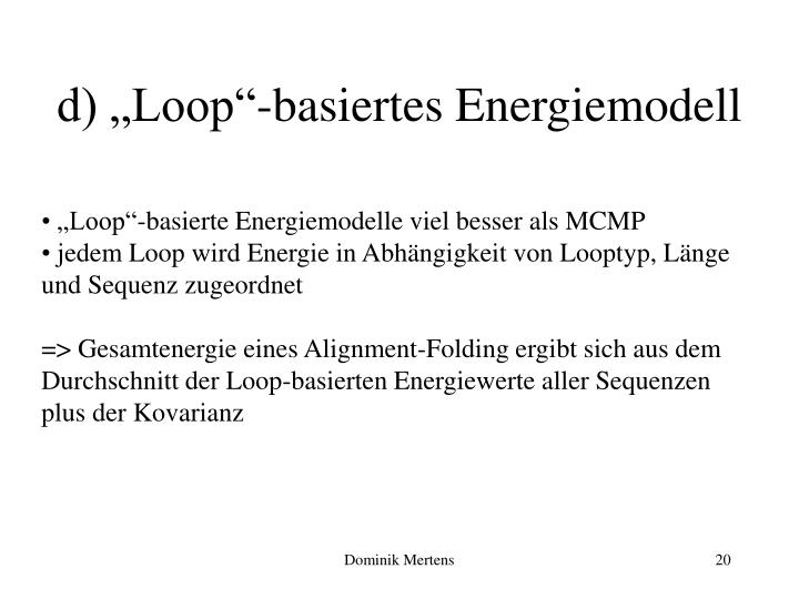 """d) """"Loop""""-basiertes Energiemodell"""