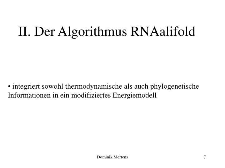II. Der Algorithmus RNAalifold