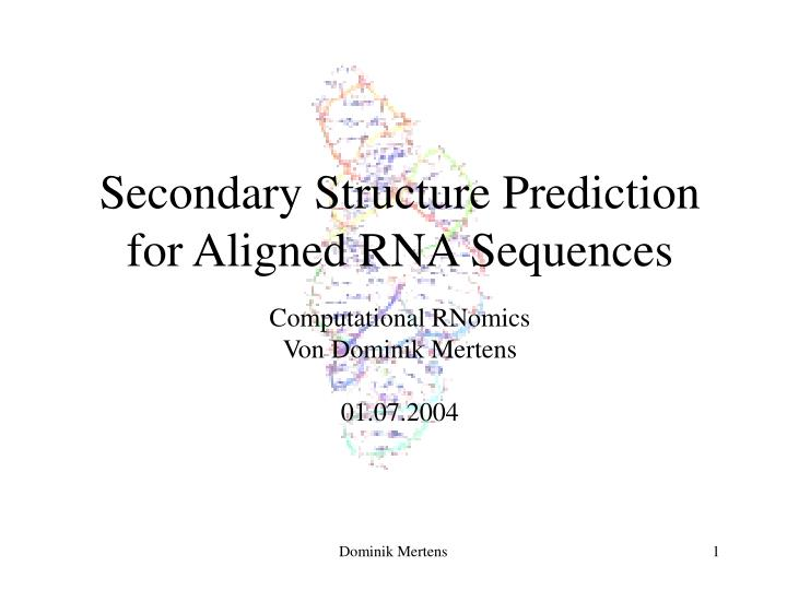 Secondary structure prediction for aligned rna sequences