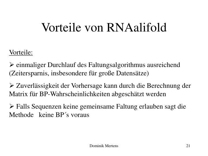 Vorteile von RNAalifold