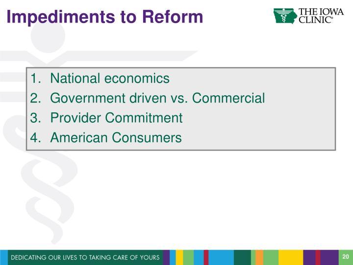 Impediments to Reform