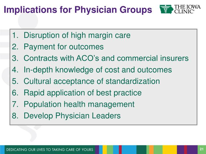 Implications for Physician Groups