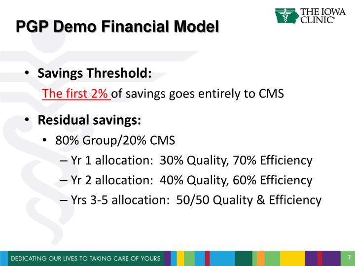 PGP Demo Financial Model