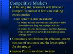 competitive markets