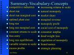 summary vocabulary concepts