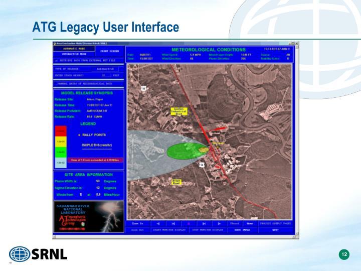 ATG Legacy User Interface