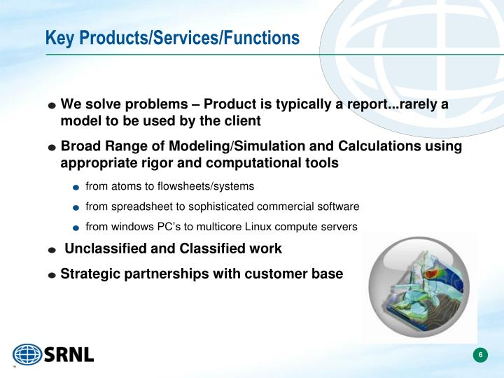 Key Products/Services/Functions
