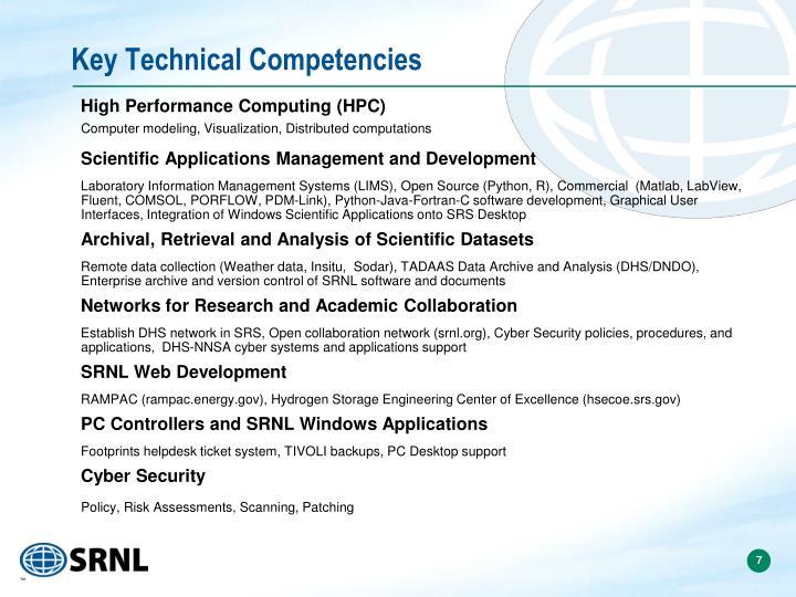 Key Technical Competencies