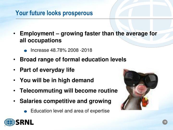 Your future looks prosperous