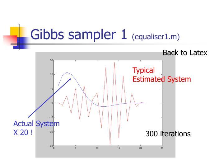 Gibbs sampler 1