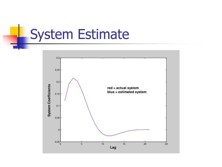 System Estimate