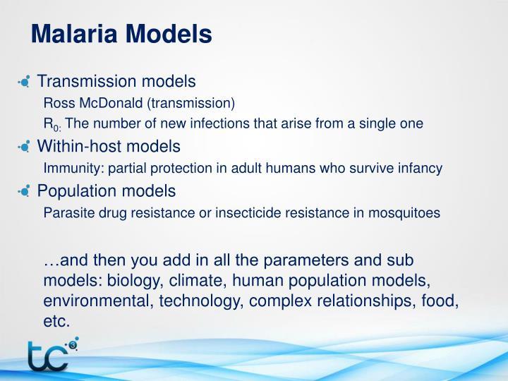 Malaria Models