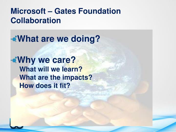 Microsoft – Gates Foundation