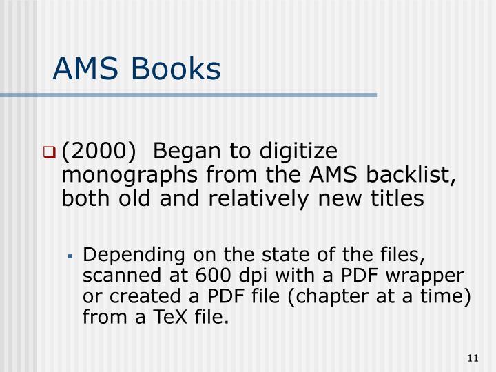 AMS Books