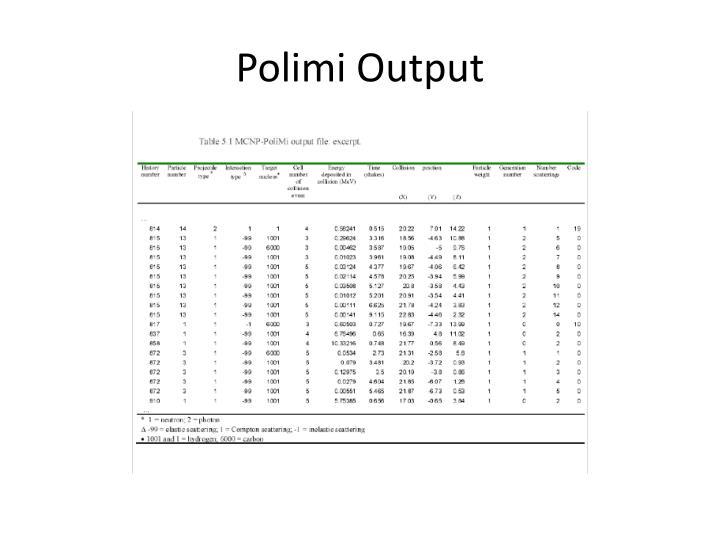 Polimi Output
