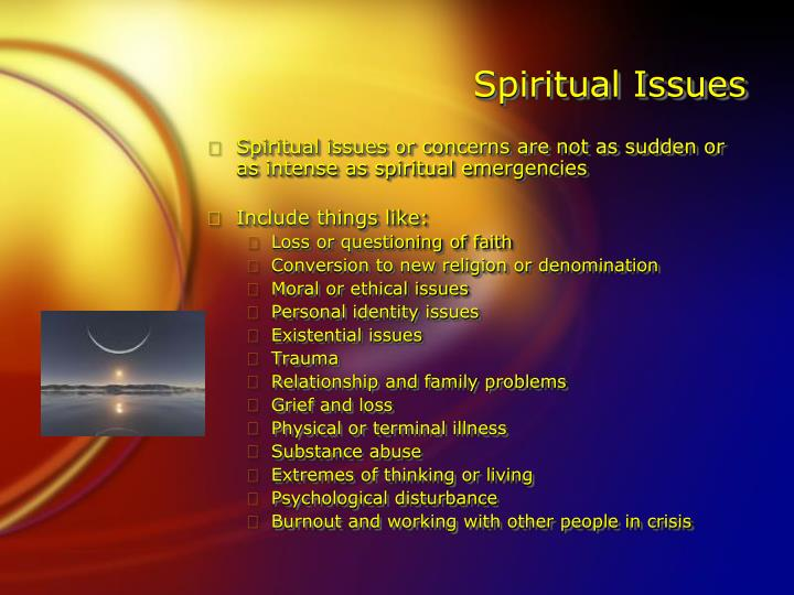 Spiritual Issues